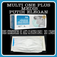 masker 3ply isi 50 medis disposable mask - Multi One Plus