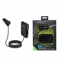 Charger Mobil Car Charger 4 Port Usb 8A Quick Charging 3.0A