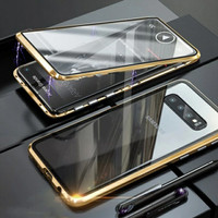 Magnetic Double Glass Case Samsung Galaxy Note 9 Note9 Casing HP