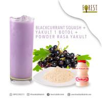 BUNDLING HEMAT - Bubuk Minuman BLACKCURRANT SQUASH+Powder Rasa YAKULT