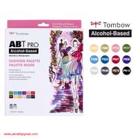 TOMBOW ABT PRO 12 Warna FASHION Palette Dual Brush Pen Alcohol-Based