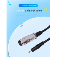 Kabel Microphone Converter Female XLR to 3.5mm Aux HY-018 - 3 Meter