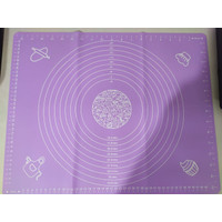 Alas adonan silikon tatakan fondant silicone mat/ silmat 50 x 40 cm - Ungu