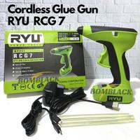 RYU Glue Gun Listrik Tanpa Kabel Alat Tembakan Lem Tembak Lilin RCG7