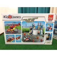 Mainan edukatif brick block besar 360 pcs 2 pilihan FIREMAN / POLICE - Fireman