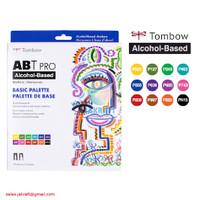 TOMBOW ABT PRO 12 Warna BASIC Palette Dual Brush Pen Alcohol-Based