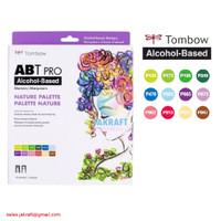 TOMBOW ABT PRO 12 Warna NATURE Palette Dual Brush Pen Alcohol-Based