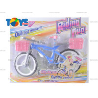 Bike Bicycle With Basket For barbie Doll Mainan Sepeda Boneka barbiiee