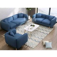 Sofa Ruang Tamu Modesty 321 Seater + Meja Retro Scandinavian