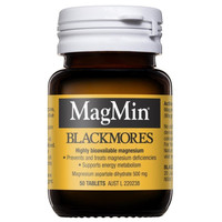 Blackmores Magmin 500mg Magnesium Supports Energy Made in Australia