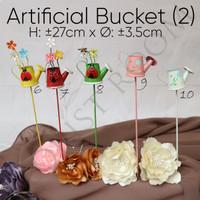 Artificial Bucket (2) - Hiasan - dekorasi Rumah - hampers - mainan bay