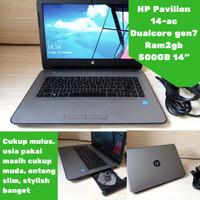 Laptop Slim HP Pavilion 14-ac Dualcore Bergaransi!!