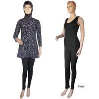 Baju Renang Muslim Blus Motif Bercak Putih (ML-BL001)