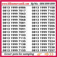 nomor cantik simpati 4G hoki seri 1999 rapi 9