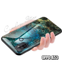 OPPO A53 MARBLE GLASS CASE OPPO A53 CASING OPPO A53 HARD CASE OPPO A53