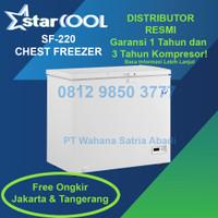 Starcool SF-220 Chest Freezer Box Pintu Solid Low Watt