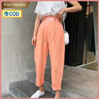 (K2080) Celana Panjang Wanita Highwaist Import Gratis Ikat Pinggang