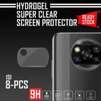 8 PCS ANTI GORES KAMERA FOCO X3 NFC PREMIUM CLEAR HYDROGEL