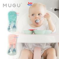 Mugu Toddler Spoon Fork Set Sendok Garpu Bayi Anak