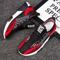 Sepatu Import Sneakers Pria Dash v.3 & Include Box + Free Kaos Kaki - Hitam Merah, 39
