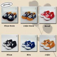 Sepatu Bayi Baby Newborn Anak Laki denim tali SBY19A
