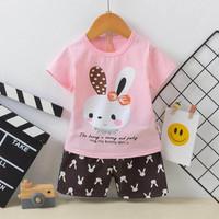 baju anak setelan / pakaian modis / harian / import cewek / bagus - 5-6th