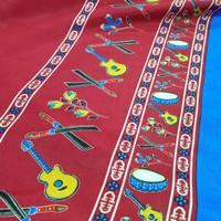 "kain motif khas Maluku Ambon merah MTR ""city of music"" edition"