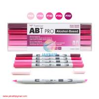 TOMBOW ABT PRO 5 Warna Pink Blend Set Dual Brush Pen Alcohol-Based