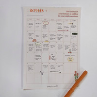 Monthly Planner Sheet - Wall Planner - A4 - Random