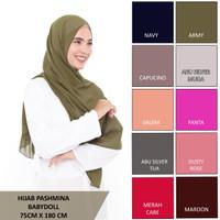 Hijab Pashmina Ceruty Babydoll - Pashmina Babydoll Size (180 x 75 cm)