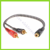CABLE Kabel RCA Cabang Y 1 RCA Male To 2 RCA INTERSYS ANTI STORING