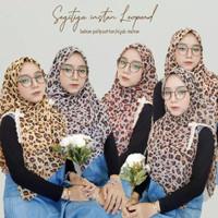 Hijab Segitiga Instan Leopard | Jilbab Segitiga Instan Renda