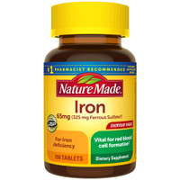 Nature Made Iron Supplement 65 mg/325 mg 190 Tablets