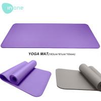 Inone Matras Yoga Mat Yoga Anti Slip Karet Berkualitas Lembut 10mm - Ungu