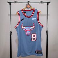 Jersey Basket Swingman NBA Chicago Bulls Zach LaVine blue biru city