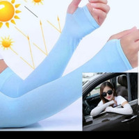 hand sock fingerless anti UV kaos sarung tangan cewek lengan panjang