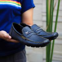 Sepatu Casual Santai Formal Pria Crocodile Slip On Slop Kulit Murah