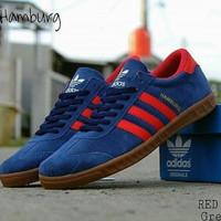 Sepatu Adidas Hamburg navy red & sepatu pria & sepatu olahraga