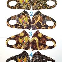 grosiran masker kain scuba motif batik garuda 12pcs permotif