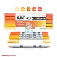 TOMBOW ABT PRO 5 Warna Orange Blend Set Dual Brush Pen Alcohol-Based