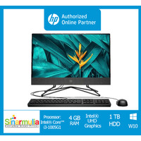 "PC HP AIO i3-1005G1 4GB 1TB 21.5"" Win10 Murah (HP 22-dd0117d)"