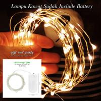 Lampu Tumblr Kawat Warm White / Lampu Hias LED Baterai / Lampu LED