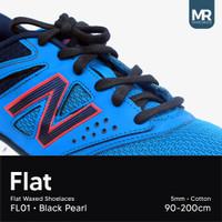 Tali Lilin Gepeng (Flat) 120cm 5mm Variasi Warna untuk Sepatu Sneakers