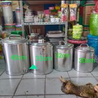 panci soto/dadang bubur TEBAL aluminium - 30 CM