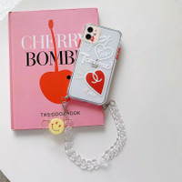 casing hp korea flower iphone case 7 8 x xs xr 11 pro max tali rantai