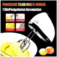 Hand Mixer Elektric Mixer Tangan Elektrik Alat Aduk Adonan Kue 7 Kecep