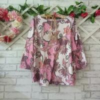 blouse wanita branded original pink batik/baju kaos big size branded