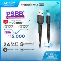 ACMIC FM100 Kabel Data Charger Micro USB 100cm Fast Charging Cable