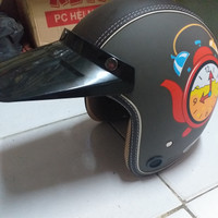 helm retro bogo dewasa helem motor pria wanita