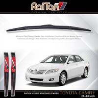 """Raiton Sepasang Wiper Hybrid Kaca Depan Mobil Toyota Camry 24"""" & 18"""""""